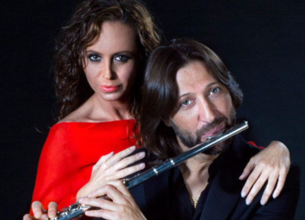 Con Aída Gómez en el estreno mundial de 'Adalí'